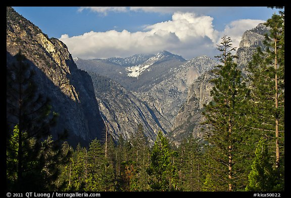 U shape of Kings Canyon seen from Canyon Viewpoint. Kings Canyon National Park (color)