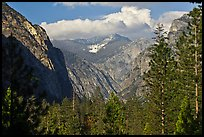 U shape of Kings Canyon seen from Canyon Viewpoint. Kings Canyon National Park ( color)