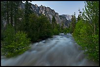 South Forks of the Kings River flowing at dusk. Kings Canyon National Park ( color)