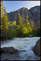 Granite River below Roaring River Falls. Kings Canyon National Park ( color)