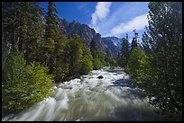 South Forks of the Kings River flowing through valley, Cedar Grove. Kings Canyon National Park ( color)