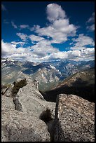 Summit blocks of Lookout Peak and Cedar Grove. Kings Canyon National Park ( color)