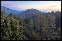 Redwood Canyon from above, sunset. Kings Canyon National Park ( color)