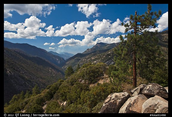 Canyon of the Kings River from Cedar Grove Overlook. Kings Canyon National Park (color)