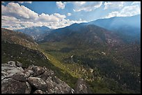 Cedar Grove Valley from Cedar Grove Overlook. Kings Canyon National Park, California, USA.