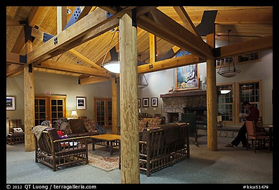 John Muir Lodge lounge. Kings Canyon National Park (color)