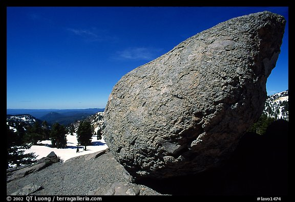 Glacial erratic rock. Lassen Volcanic National Park (color)