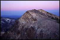 Brokeoff Mountain, dusk. Lassen Volcanic National Park, California, USA.