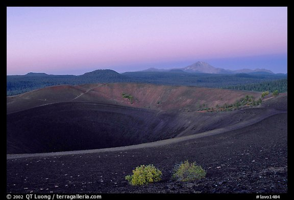 Crater at top of Cinder cone, dawn. Lassen Volcanic National Park (color)