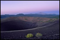 Crater at top of Cinder cone, dawn. Lassen Volcanic National Park, California, USA.