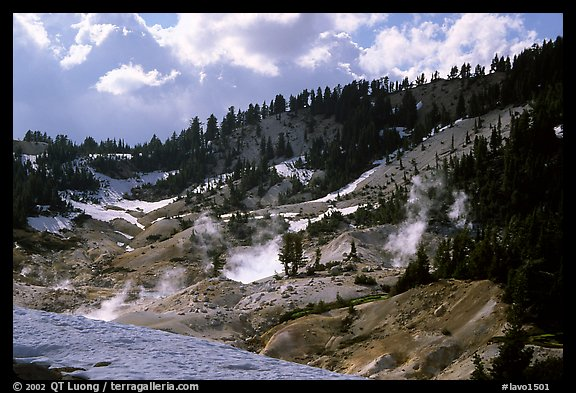 Bumpass Hell thermal area. Lassen Volcanic National Park (color)