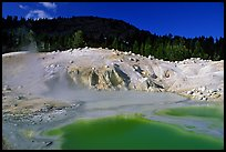 Green pool in Bumpass Hell thermal area. Lassen Volcanic National Park, California, USA. (color)