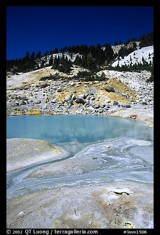 Thermal pool in Bumpass Hell thermal area. Lassen Volcanic National Park, California, USA.