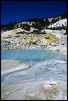Thermal pool in Bumpass Hell thermal area. Lassen Volcanic National Park, California, USA. (color)