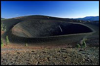 Crater on top of cinder cone. Lassen Volcanic National Park, California, USA. (color)