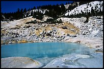 Turquoise pool in Bumpass Hell thermal area. Lassen Volcanic National Park, California, USA. (color)