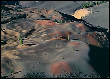 Painted dunes seen from above. Lassen Volcanic National Park, California, USA. (color)