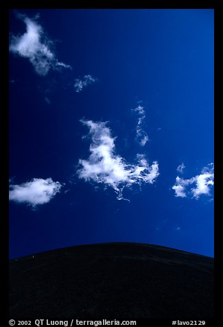Clouds and round cinder cone. Lassen Volcanic National Park (color)