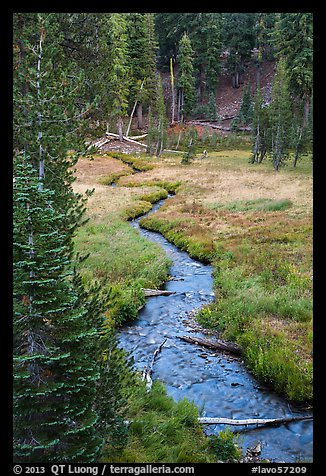 Kings Creek in meadow, late summer. Lassen Volcanic National Park (color)