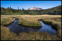 Stream meandering in Upper Meadow. Lassen Volcanic National Park ( color)