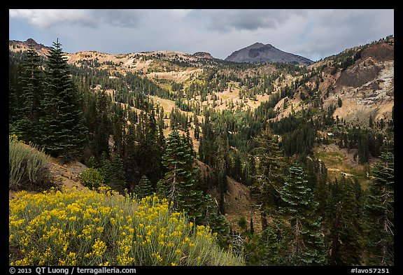 Little Hot Springs Valley. Lassen Volcanic National Park (color)