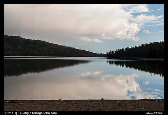 Juniper Lake, late afternoon. Lassen Volcanic National Park (color)