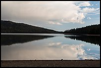 Juniper Lake, late afternoon. Lassen Volcanic National Park ( color)