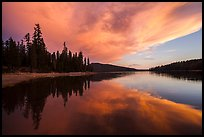 Colorful sunset, Juniper Lake. Lassen Volcanic National Park ( color)