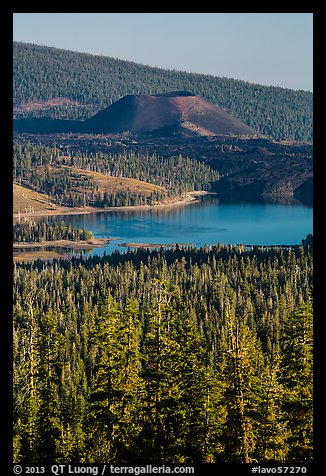 Cinder Cone and Snag Lake from Inspiration Point. Lassen Volcanic National Park (color)