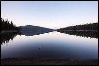 Juniper Lake at dawn. Lassen Volcanic National Park ( color)