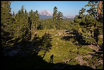 Lassen Peak from Inspiration Point with photographer shadow. Lassen Volcanic National Park ( color)