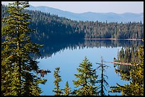 Juniper Lake and Mount Harkness. Lassen Volcanic National Park ( color)