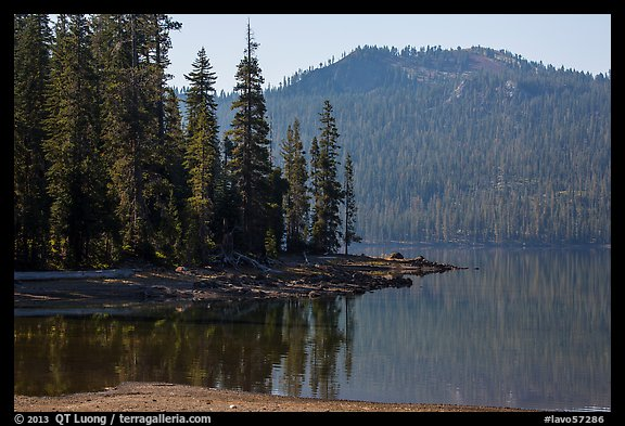 Mount Harkness above Juniper Lake. Lassen Volcanic National Park (color)