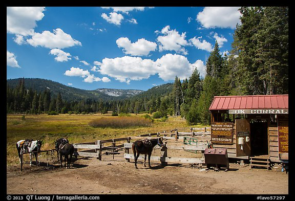 Corral, Drakesbad. Lassen Volcanic National Park (color)