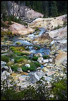 Hot Springs Creek, Devils Kitchen. Lassen Volcanic National Park ( color)