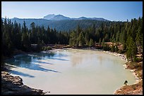 Boiling Springs Lake and Lassen Peak. Lassen Volcanic National Park, California, USA.