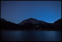 Lake Helen and Lassen Peak at night. Lassen Volcanic National Park ( color)