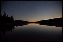 Juniper Lake at night after moonset. Lassen Volcanic National Park ( color)