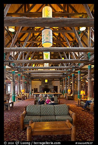 Paradise Inn Lobby. Mount Rainier National Park (color)