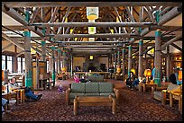 Interior of Paradise Inn. Mount Rainier National Park ( color)