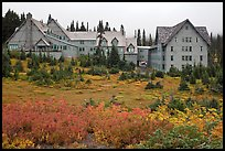 Paradise Inn in autumn. Mount Rainier National Park, Washington, USA. (color)