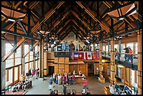 Inside Paradise Visitor Center. Mount Rainier National Park ( color)