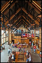 Inside Henry M Jackson Memorial Visitor Center. Mount Rainier National Park, Washington, USA.