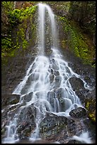 Waterfall cascading over boulders, Falls Creek. Mount Rainier National Park, Washington, USA. (color)