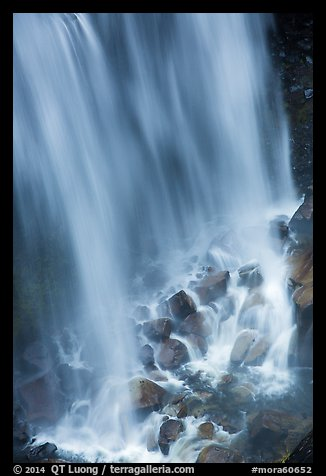 Water flowing at the base of Narada Falls. Mount Rainier National Park (color)