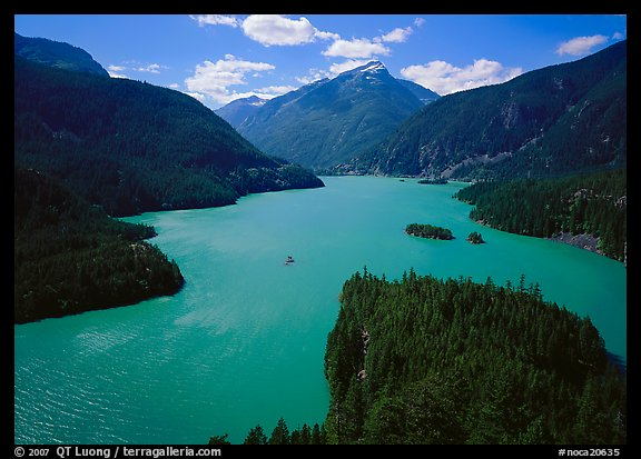 Turquoise waters in Diablo lake. North Cascades National Park (color)