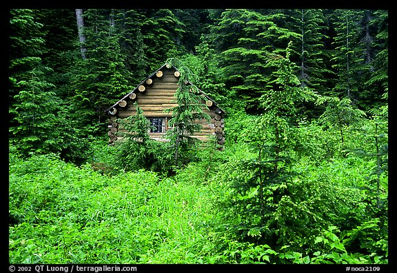 Log cabin, Glacier Peak Wilderness. Washington