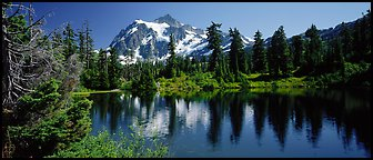 Mount Shuksan. North Cascades National Park (Panoramic color)