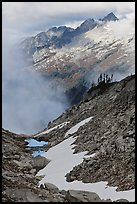 Alpine scenery in unsettled weather, North Cascades National Park. Washington, USA.