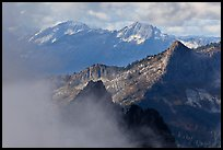 Mountain ridges and clouds, North Cascades National Park.  ( color)